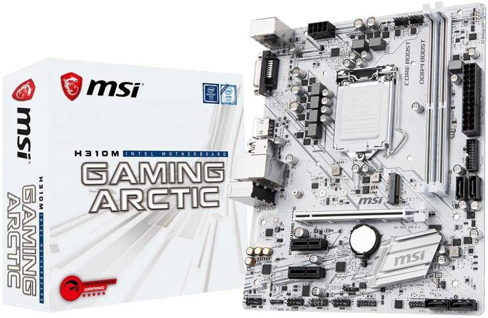 Best White Motherboards 2020,MSI H310M GAMING ARCTIC – Best Micro White-ATX Motherboard, DigitalUpBeat - Your one step shop for all your  tech gifts and gadgets
